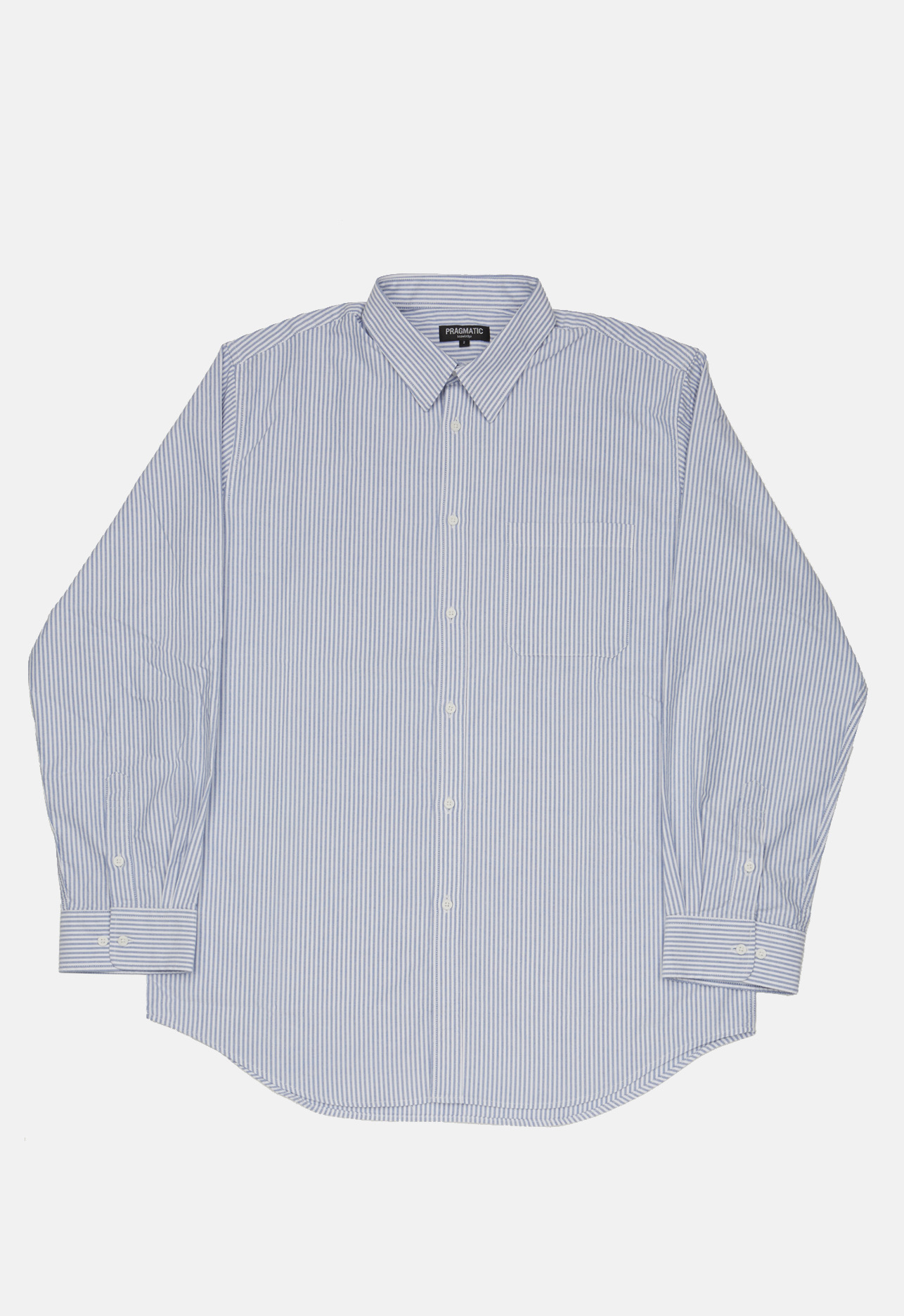 OX STRIPE BIG SHIRTS BLUE