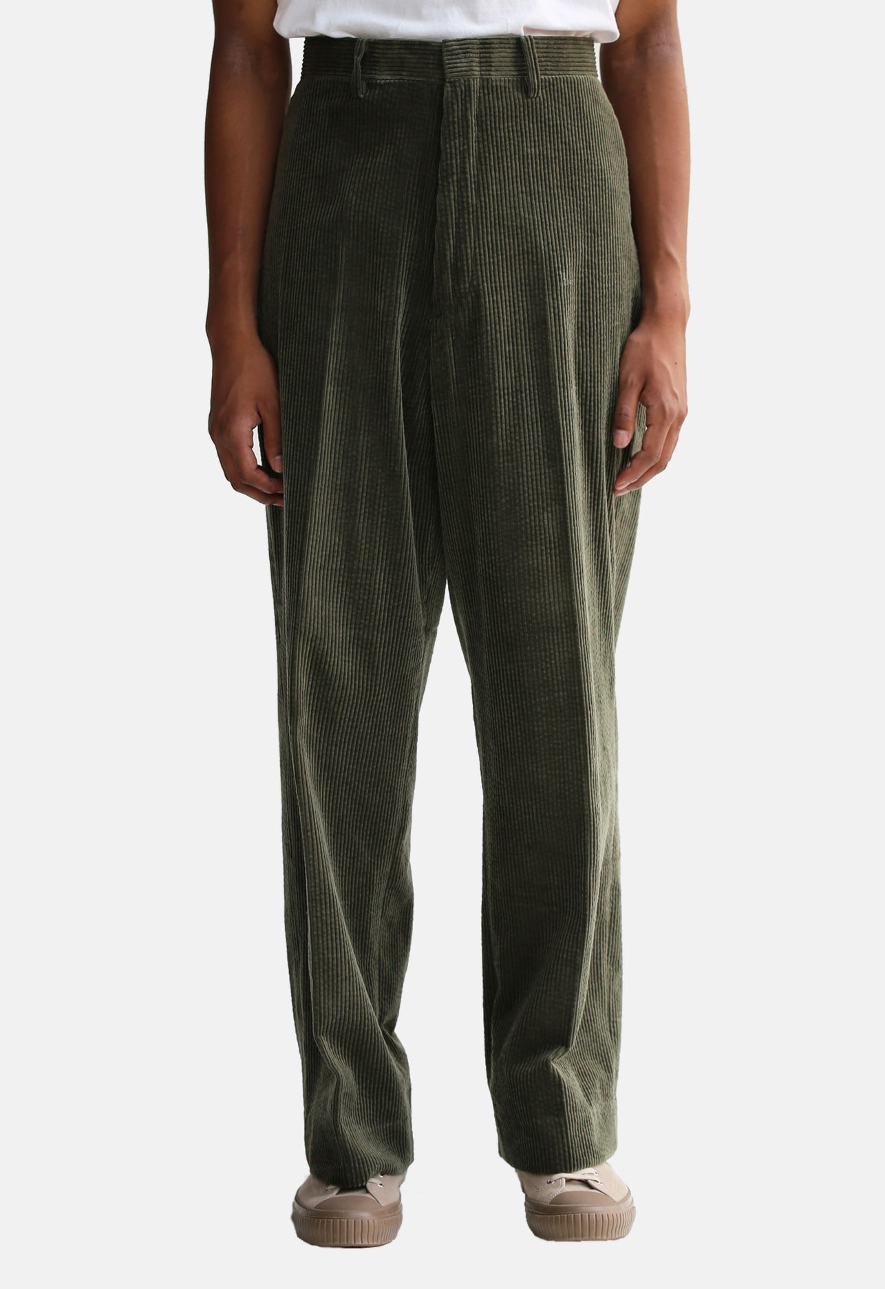 CORDUROY PANTS GREEN
