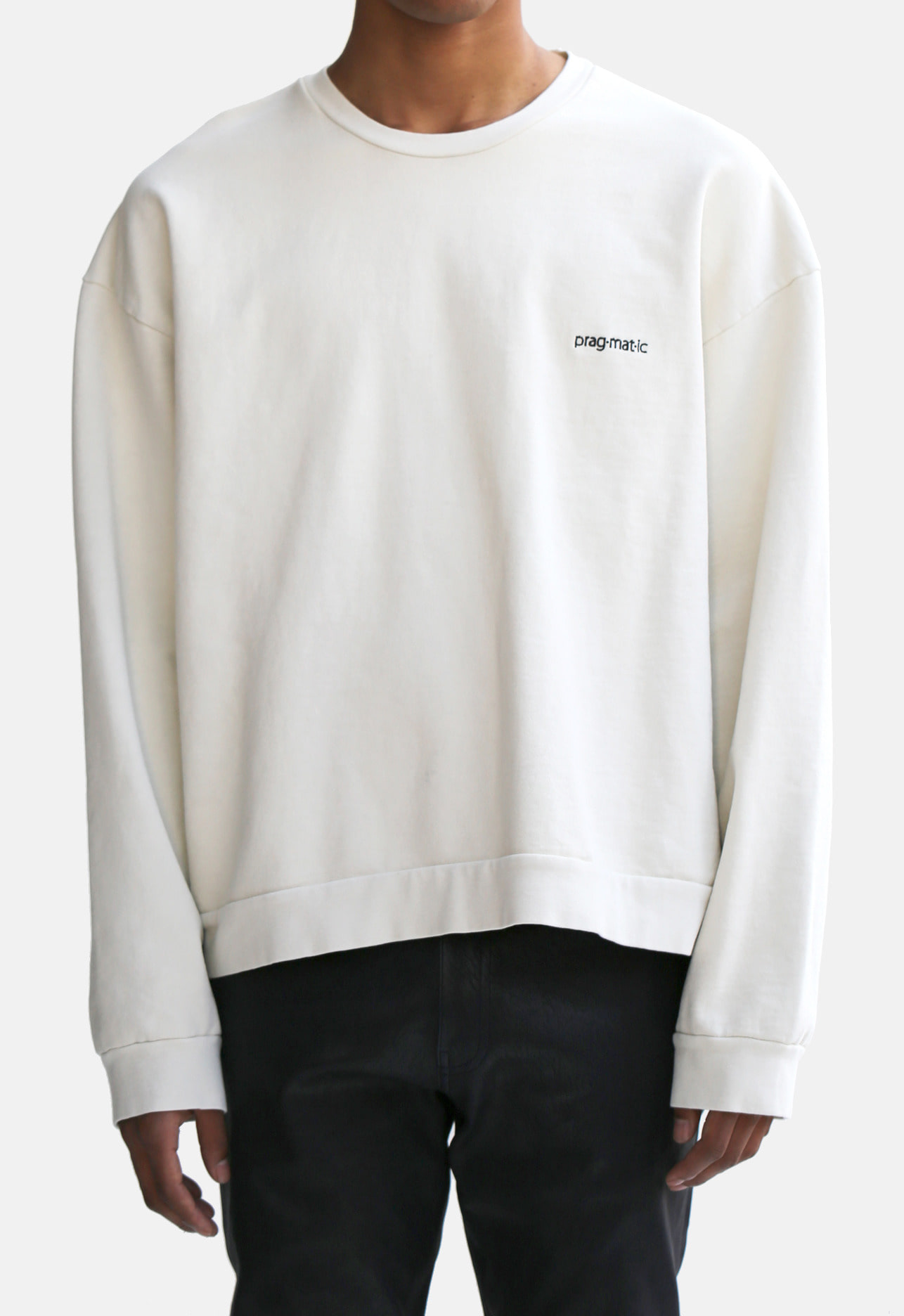 CROP CREW NECK CREAM