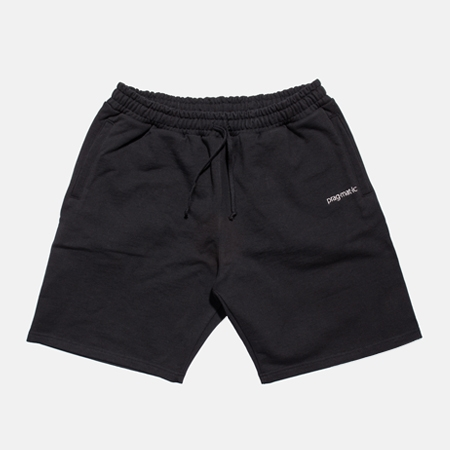 SWEAT HALF PANTS BLACK