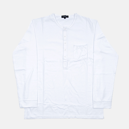HENLEY NECK WHITE