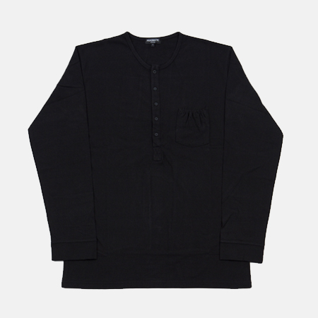 HENLEY NECK BLACK