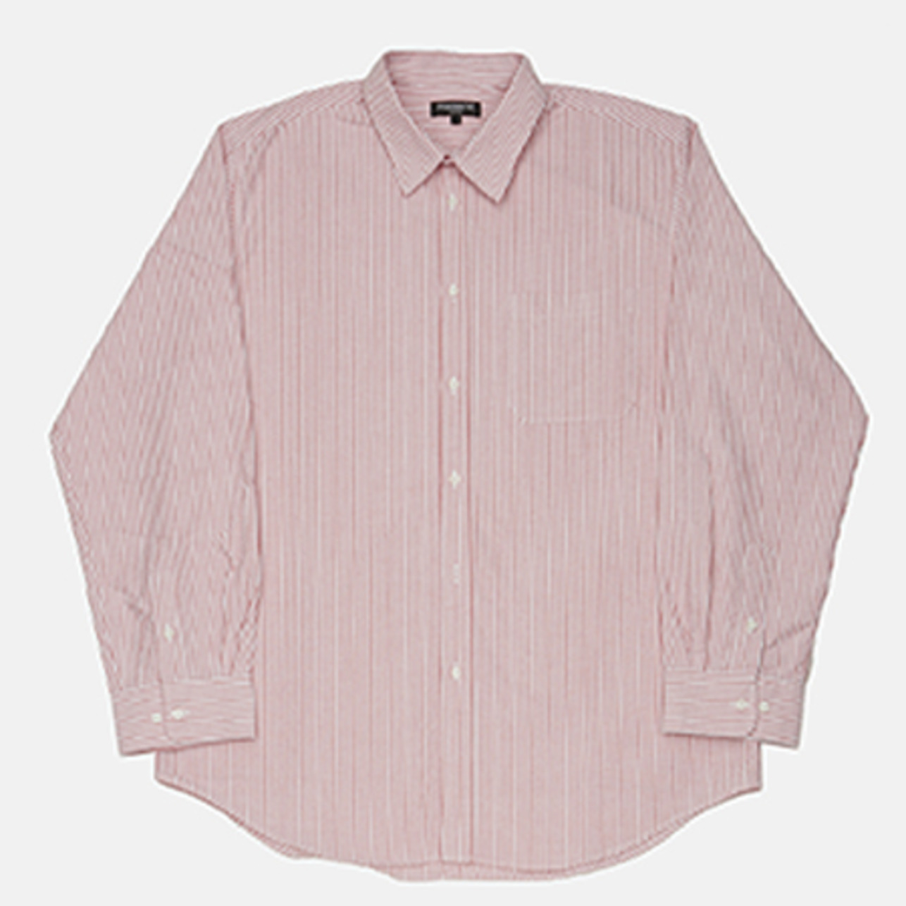 OX STRIPE BIG SHIRTS RED