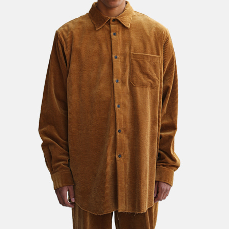 CORDUROY BIG SHIRTS CAMEL