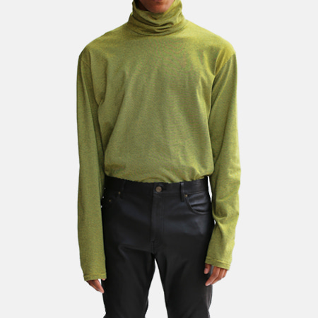 BORDER TURTLE NECK YELLOW